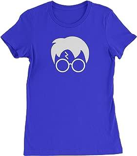 Harry Glasses Lightning Bolt Hair Womens T-Shirt