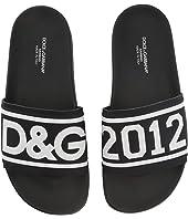 Dolce & Gabbana Kids - Logo Slide (Big Kid)