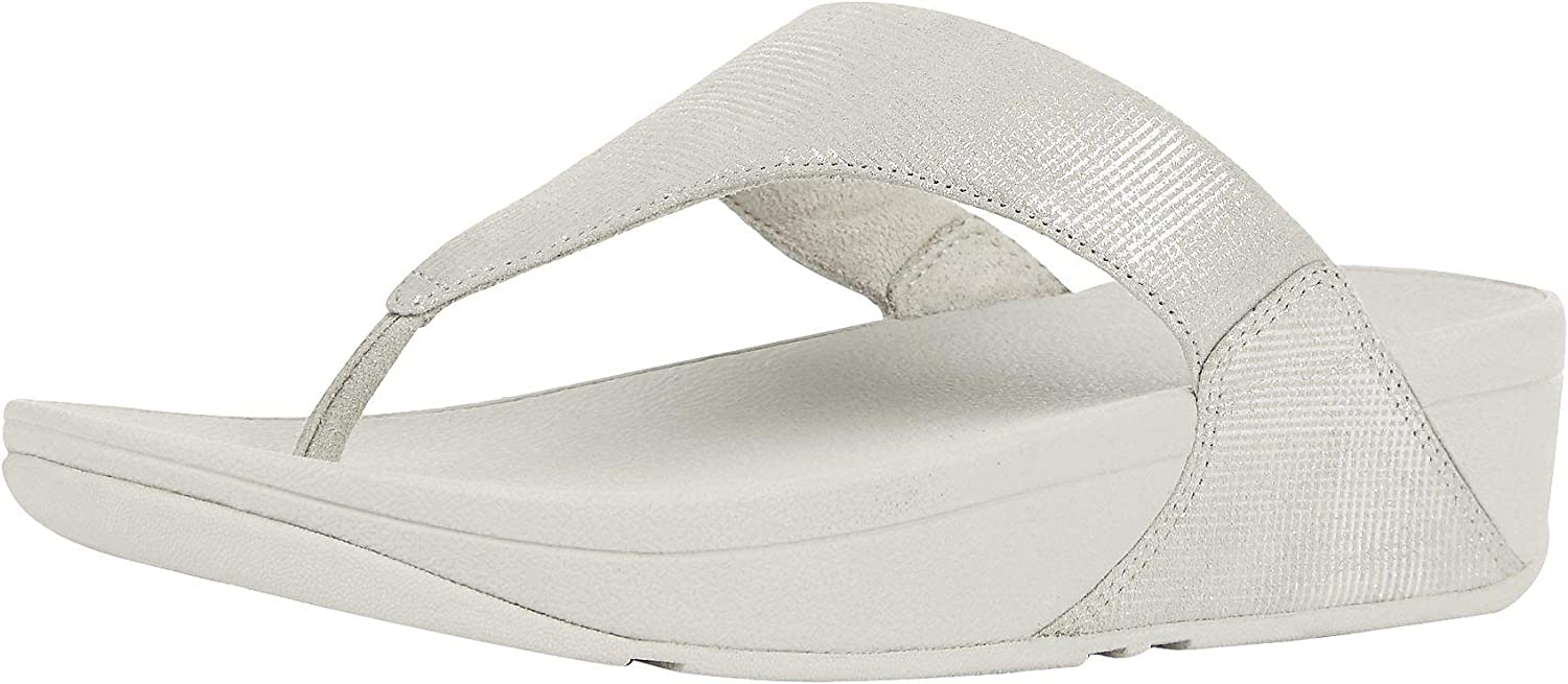 FitFlop Women's Lulu Toe-Thong Sandals-Shimmer-Check