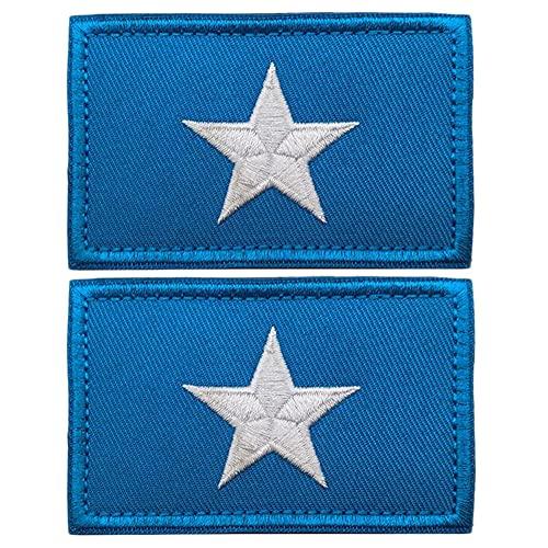 Aufnäher mit Somalia-Flagge, bestickt, afrikanische Nationalflaggen, Emblem, taktischer Haken & Erscheinungsbild, Armband-Abzeichen, Aufnäher zum Aufnähen, für Rucksäcke, Mützen, Jacken, 2 Stück