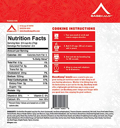 BaseKamp Freeze Dried Meal 5