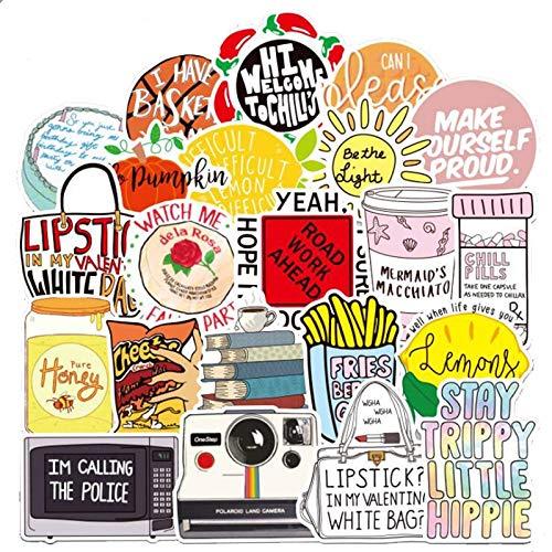 BLOUR 10/30 / 50PCS Kleine frische Rebe Cartoon Graffiti Gepäck Elektro Kühlschrank Gitarre Auto Aufkleber Wasserdicht