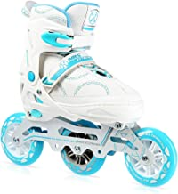 NILS NA11201 Speedskates voor dames, high speed inlineskates, verstelbaar, ABEC7 fitness skates 90/100 mm 82A