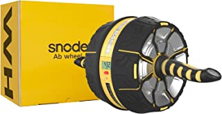 SNODE Ab Roller Wheel for Abdominal Exercise Core&Abdominal Equipment Trainer for Men&Women with Intelligent Workout Data Display, Spring Steel Sheet, Knee Pad for Home Gym Fitness