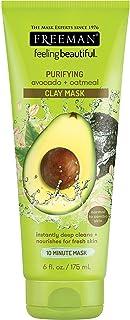 Freeman Feeling Beautiful Facial Clay Masque Avocado & Oatmeal 6 oz (Pack of 6)