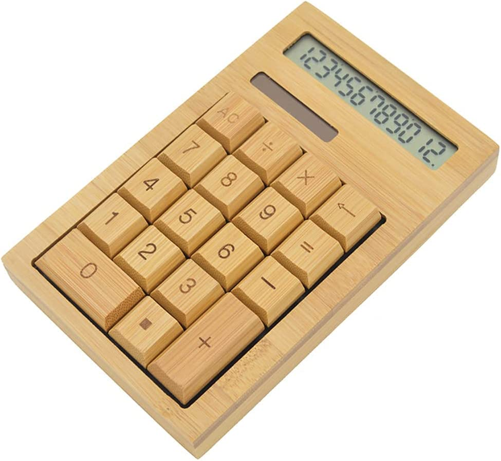 Popular popular Bytecobyte Functional Nippon regular agency Desktop Calculator Calc Power Solar Bamboo