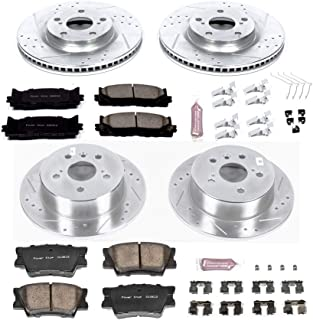 Power Stop K6480 Front & Rear Brake Kit with Drilled/Slotted Brake Rotors and Z23 Evolution Ceramic Brake Pads