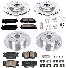 Power Stop K6480 Front & Rear Brake Kit with Drilled/Slotted Brake Rotors and Z23 Evolution Ceramic Brake Pads