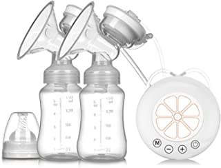 Breast Pump Double Electric Breast Pump USB Electric Breast Pump With Baby Milk Bottle Cold Heat Pad BPA Free Powerful Bre...