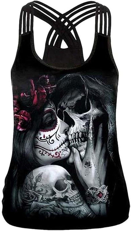 Tpingfe Halloween Tank Ranking TOP12 Tops for Sleeveless Skeleton cheap Women Printe