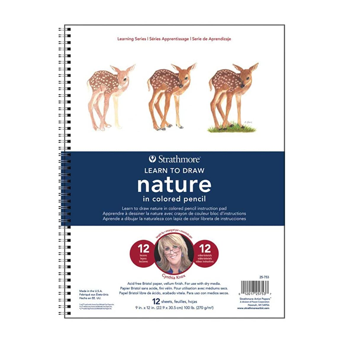 Strathmore ((25-753 300 Learning Series Colored Pencil Nature Pad