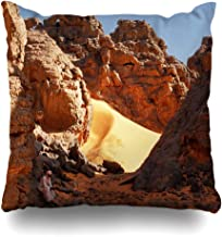 Ahawoso Throw Pillow Cover Square 16x16 Colorful Acid Ennedi Plateau Located Northeast Chad Regions Parks Landscape Yellow Active Adventure Decorative Zippered Cushion Case Home Decor Pillowcase