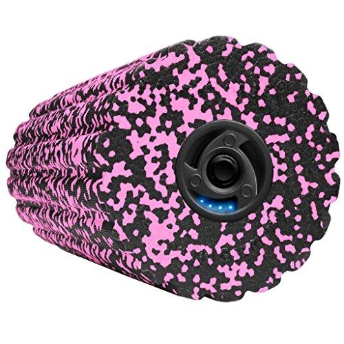 Medisana Erwachsene 79518 Powerroll Soft Massagerolle mit Intensiver Tiefenvibration, 15,5 X 15,5 X 36, schwarz pink, S