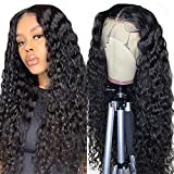 Pelucas mujer pelo natural rizado middle part peluca lace front wig human hair...