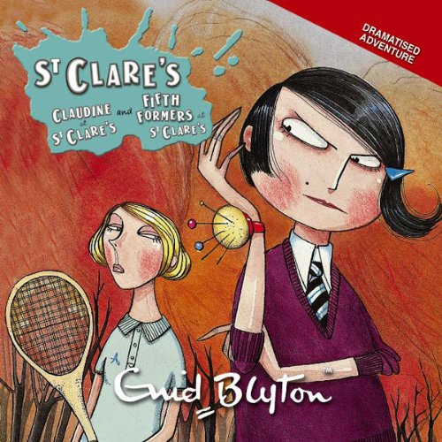 'Claudine at St Clare's' and 'Fifth Formers at St Clare's' cover art