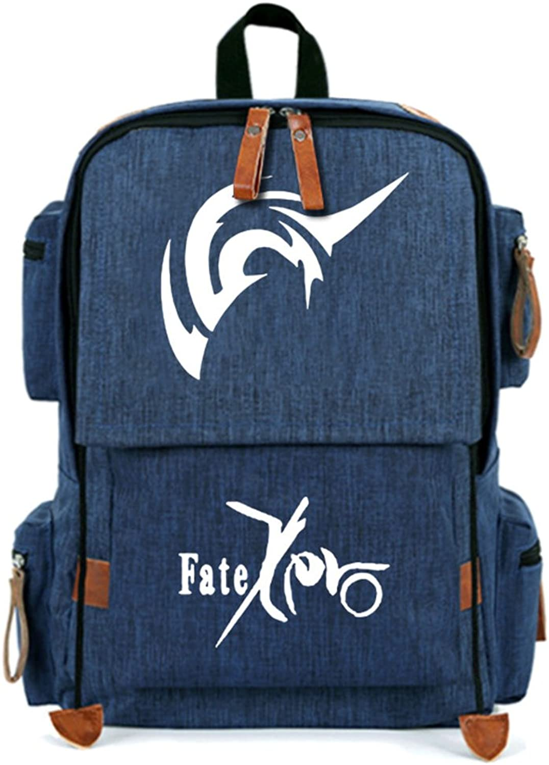 Gumstyle Fate Zero Students Anime Canvas Backpack Laptop Bag Knapsack for Boys Girls Navy 3