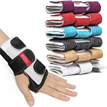 Zhezhera Suede Tiger Gymnastics Wrist Supports Paws Wraps: Variety of Colors - for Girls, Kids and Child, Professionals Gymnasts and Cheerleaders – Low-Profile Injury Prevention Wrist Wraps
