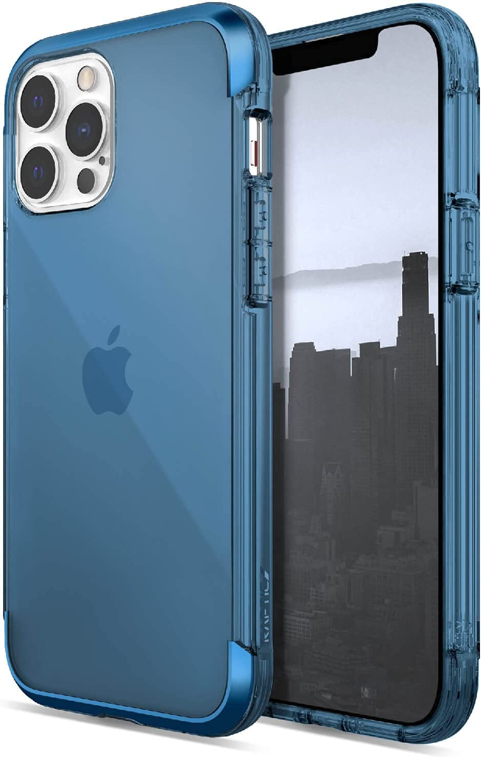Raptic Air Case Compatible with iPhone 13 Pro Max Case, Scratch Resistant, Aluminum Metal Bumper, Wireless Charging, 13ft Drop Protection, Fits iPhone 13 Pro Max, Blue