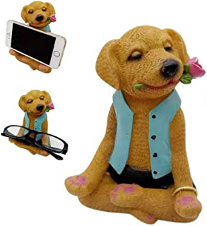 Cell Phone Stand, Smartphone Stand, Eyeglass Holder, Business Card Holder, Dog Cell Phone Holder Mount Dock Android Smartphones iPhone, Unique Desk Accessories Solutions