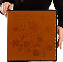 Totocan Photo Album Self Adhesive, Huge Magnetic Self-Stick Page Picture Album with Leather Vintage Inspired Cover, Hand Made DIY Albums Holds 3X5, 4X6, 5X7, 6X8, 8X10 Photos (Brown 80 Pages)