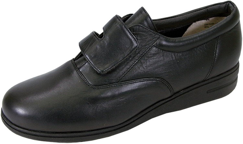 24 -timmars tröst av Rhoda kvinnor kvinnor kvinnor bred bred Classic Cushioned läder Strap över Slip On skor  Vi levererar det bästa