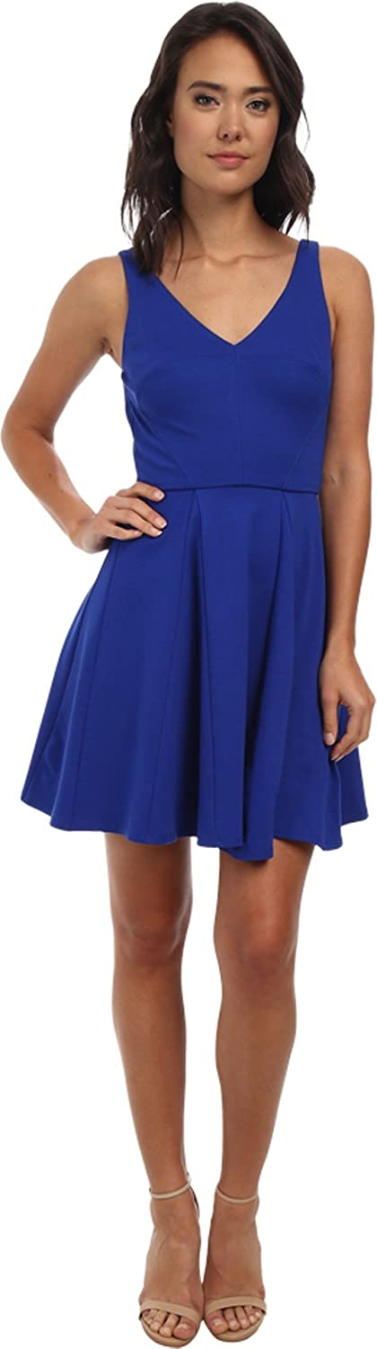 ABS Allen Schwartz Women's Deep V Fit and Flare Dress Royal Dress MD (US 68)