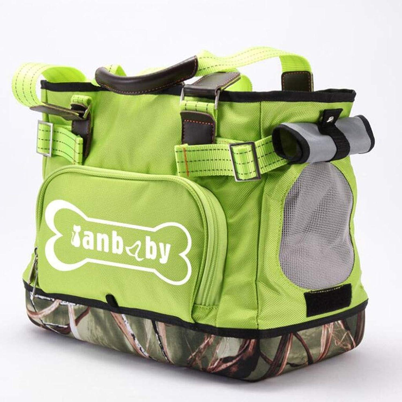 Pet Supplies EVA Pet Bag Dog Travel Bag Cat Dog Breathable Handbag Out of The Carrying Case (color   Green)