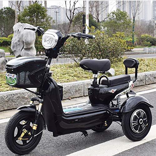 AA100 Vélo écologique 48V20A Vert écologique de Scooter de Roue Mobile électrique Adulte Trois Vieux,Black