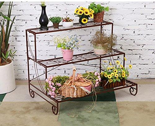 Etagere Plante Stand de Fleur/Plante Stand de métal Floral Stand de Stockage de Jardin intérieur/extérieur (Blanc) (Couleur : 1, Taille : 72 * 66 * 70cm)