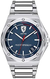Ferrari Men's Aspire Quartz Watch with 100 Stainless-Steel Strap, Silver, 26.5 (Model: 0830530)