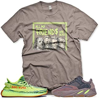 New Brown DEAD PRESIDENTS T Shirt for Adidas Yeezy Boost 700 Mauve 350 Semi Frozen