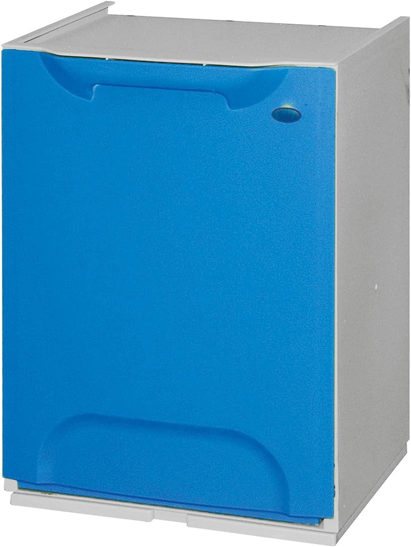 Art Plast Eco-LOGICO Papelera Reciclaje en Polipropileno, con depósito en el Interior, Azul, 47x34x29