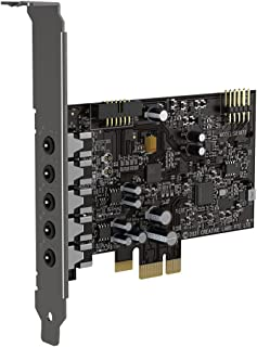 Creative Sound Blaster Audigy Fx V2 Upgradable Hi-res Internal PCI-e Sound Card with 5.1 Discrete and Virtual Surround, Sc...