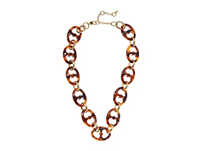 Kate Spade New York Duo Link Resin Link Necklace (Tortoise) Necklace