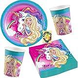 HHO Barbie-Dreamtopia-Party-Set Einhorn Unicorn-Pa