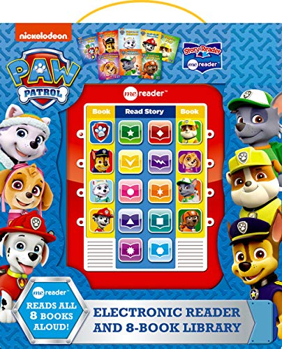 Nickelodeon - Paw Patrol Me Reader Electronic Reader and 8 Sound Book Library - Great Alternative to Toys for Christmas - PI Kids