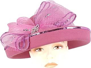 Ms Divine Women's Wool Church Hats Formal Dress Hats #1501W