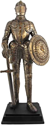 PTC 12.75 Inch Medieval Knight with Shield and Sword Statue Figurine