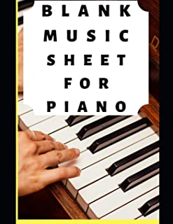 Blank Music Sheet For Piano: 12 Stave Music Composition Note