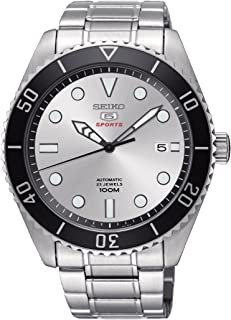 Mens Analogue Automatic Watch with Stainless Steel Strap SRPB87K1