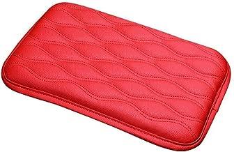 TRUE LINE Automotive Soft Leather Car Center Console Armrest Elbow Cushion Comfort Pillow Pad (RED)