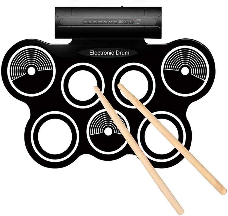 Ben-gi Elektronische Rollen Oben Trommel-Silikon-Drum Pads Eingebaute Lautsprecher Fupedale Drumsticks Musikinstrument