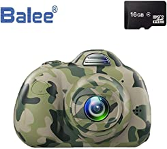 Balee Kids Digital Cameras 2 inch Screen Digital Video Cameras Creative DIY Selfie Camera for Kids with 16GB Memory SD Card (Camouflage)