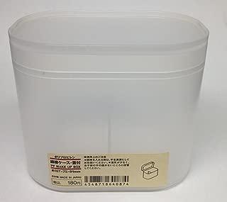 MUJI Japan PP Makeup Box [Small - suitable cotton bud box]