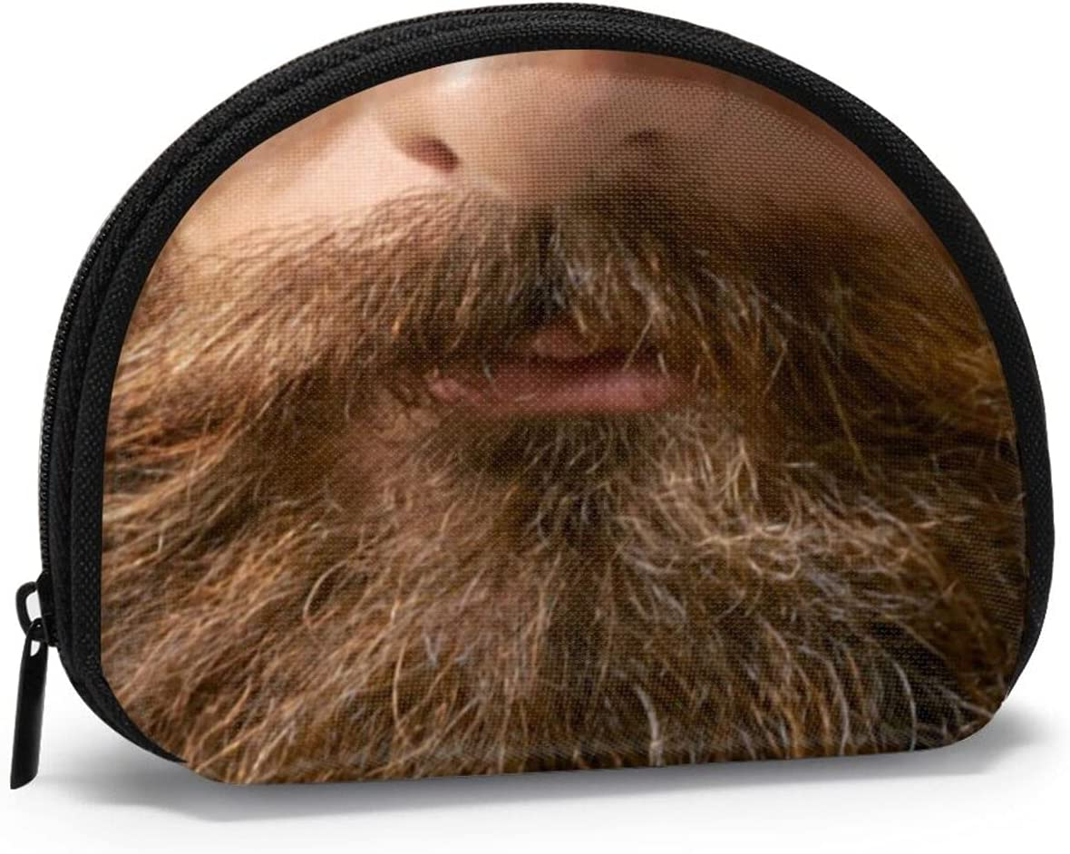 small zipper Coin Purses Vintage zipper Pouch Change Purse Wallets Beard And Big Mustache Mens Funny