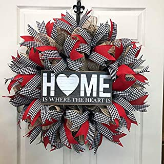 Farmhouse Country Welcome Wreath for Front Door - Home Wreath - DecoExchange Wreath