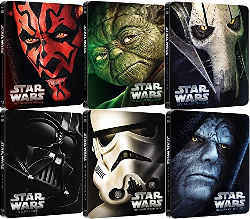Star Wars Steelbook Blu-ray Set - The Complete Saga I-VI (1+2+3+4+5+6)