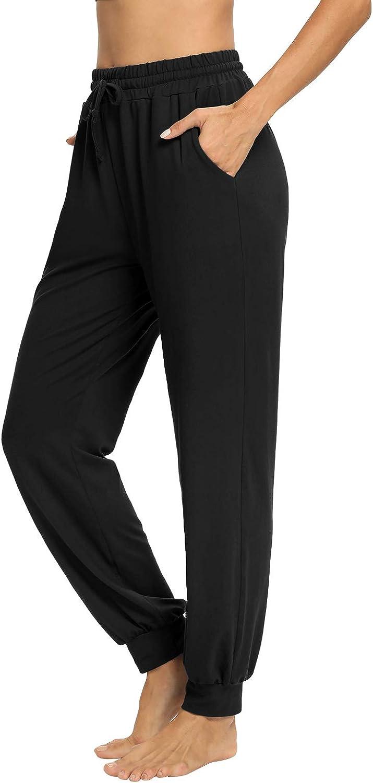 NOAHELLA Womens Yoga Sweatpants with Pockets Drawstring Workout Joggers Lounge Pants Casual Athletic Running Pants