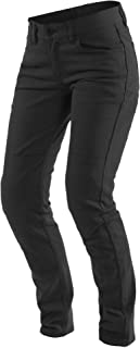 Dainese Classic Slim Womens Textile Motorcycle Pants Black 27 USA