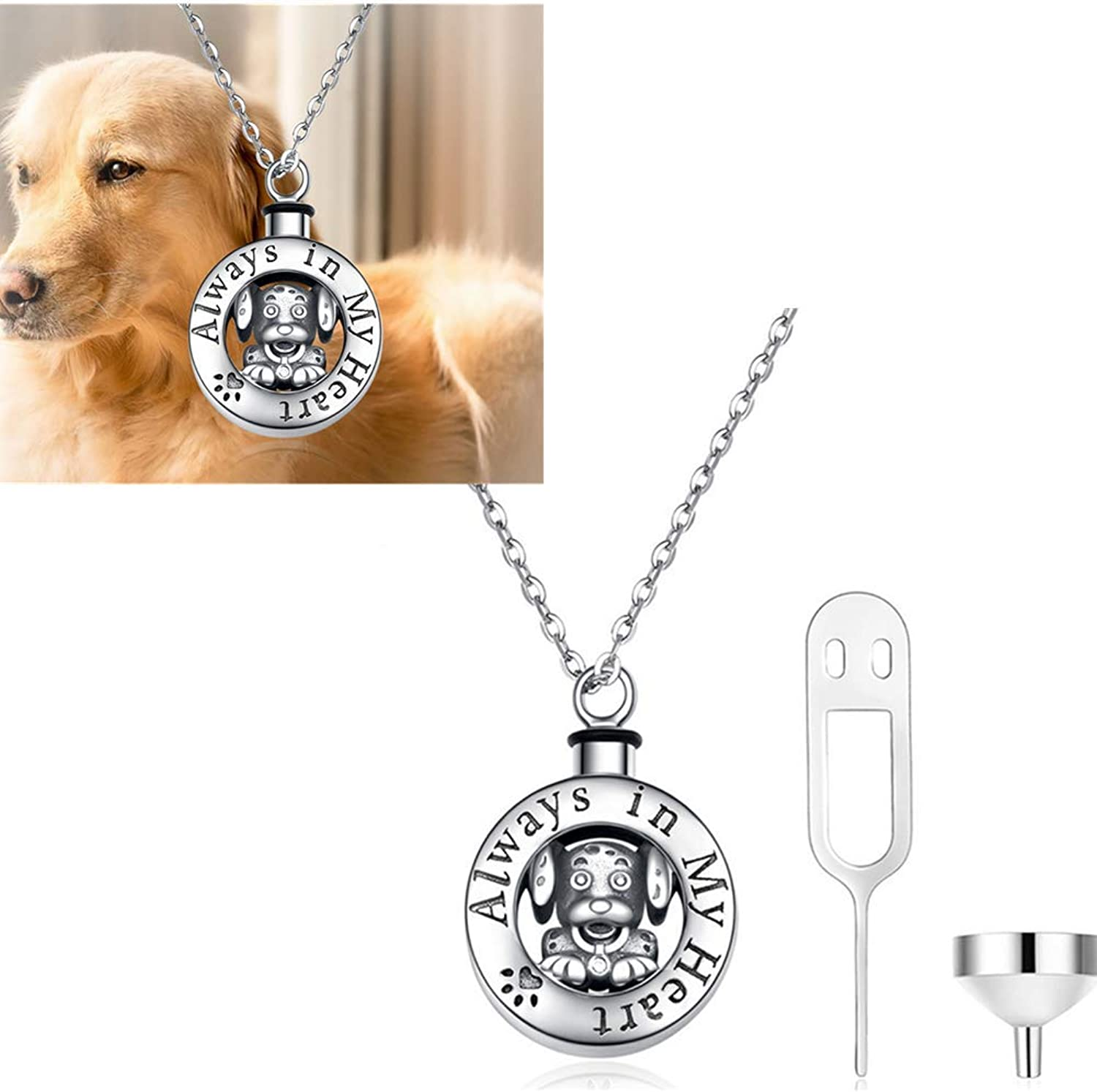 925 silver European and American creative jewelry commemorative pet urn box necklace can be opened